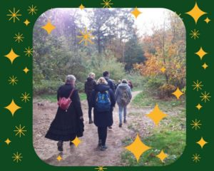 Ontmoeten, samen wandelen, gezelligheid, samen Kerst en Oud en Nieuw